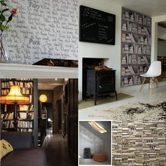 Thinking the bottom right photo might be a neat idea for the living room! All ingredients.