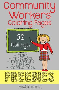 Community Workers Coloring Pages {freebie} - In All You Do