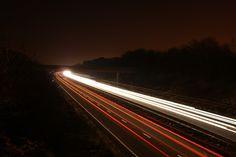 Streaks, Motion Blur, Light, Long, Night, Traffic, Dark    Image that shows blur