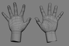 topology of hand - Google Search 3d Model Character, Female Character Design, Character Modeling, Character Concept, Man Anatomy, Anatomy Poses, Mode 3d, 3ds Max Tutorials, Polygon Modeling
