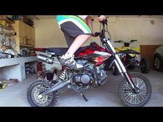 Electric mini moto - 1600W 48V - YouTube