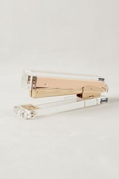 Clear and gold stapler. Love this for the chic office.