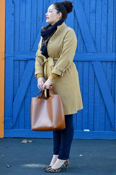 """Tanesha's camel styling. Julia says: """"The girl with the curves and brilliant style, get inspired and enjoy her outfits, whatever your size!"""" Credits:  www.girlwithcurves.com  Credits:"""