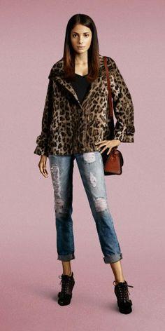1 Casaco animal print = 4 Looks - 1 Animal print coat = 4 Looks