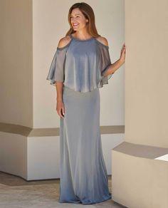 b9ef3dc0ab1 Jade Jasmine J215006 Tiffany Chiffon Dress with Boat Neckline
