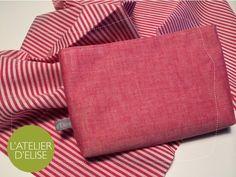 Day 1 - L'Atelier d'Elise - Pochette en coton japonais pour Emily Madewell, Throw Pillows, Tote Bag, Wallet, Day, Japanese Cotton, Atelier, Couture Sac, Pouch Bag