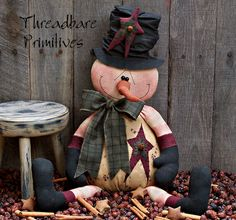 Primitive Snowman Patterns | pattern nippy the snowman pattern 245 hi friends this is a threadbare ...