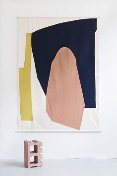 This New Italian Studio Makes Textiles Inspired by Modern Art – Sight Unseen Studio Testo, founded last year in Milan, designs textiles that are on-trend and easily understood, but packed with references to modern art. Palette Pastel, Illustration Arte, Art Et Design, Contemporary Abstract Art, Modern Artwork, Art Moderne, Textile Art, Diy Art, Art Inspo