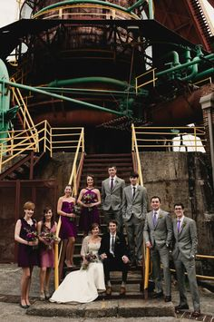 Industrial Indie Wedding (click to view all pics. They're awesome!)