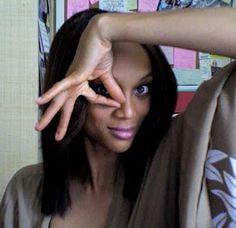 Tyra Banks puttin up 666 NWO .. wake up Devil walks among us.. Qe are feed thru MEDIA... Revelations read it