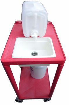 Portable Mobile Sink/ Self Contained-Sink/ Outdoor Sink/ Home Sink Outdoor Kitchen Patio, Outdoor Sinks, Outdoor Kitchens, Home Decor Kitchen, Kitchen Sink, Compact Kitchen, Garage Sink, Portable Sink, Outhouse Bathroom