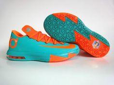 ec5c3ab7c6a3 Cheap Nike KD 6 Shoes Orange Green