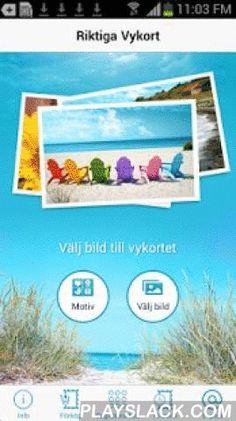 Riktiga Vykort  Android App - playslack.com ,  Med Riktiga Vykort i din mobil eller surfplatta kan du skicka riktiga fysiska vykort till alla i hela världen, direkt till mottagarens brevlåda! Ladda ner appen idag och överraska någon du tycker om. Så här enkelt är det: • Välj en bild från ditt fotoalbum eller ta ett nytt foto med kameran, skriv en hälsning och lägg till adresser. • Betala med kontokort. • Posten printar och skickar det till de mottagare som du angivit. • Skickar du före kl…