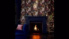 Hand painted blooming florals with jewel coloured birds create the tapestry that is Allure. New Wallpaper, Black Wallpaper, Jewel Colors, All The Colors, Autumn Interior, Vintage Interior Design, Colour Trends, Rustic Charm, Vintage Colors