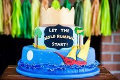 Amazing cake at a Where the Wild Things Are birthday party! See more party ideas at CatchMyParty.com!