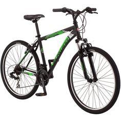 """26"""" Schwinn Sidewinder Men's Mountain Bike, Matte Black/Green for Sale"""