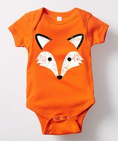 Orange Fox Bodysuit - Infant