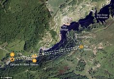 The plans: The 600m cable car would run through a small section of the three-mile long Cheddar Gorge