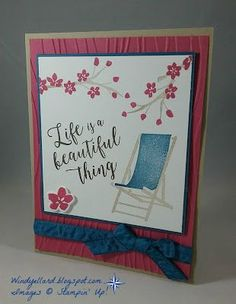 Windy's Wonderful Creations: Life is Beautiful, Stampin' Up!, Colorful Seasons, Seasonal Layers thinlits dies