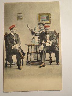Studenten Beim Trinken Kellnerin Zeigt Bierstriche AN 1908 Studentika | eBay