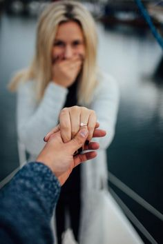 Engaged photo.