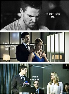 It's okay, Oliver. It bothers me, too. #Olicity  GET OUT OF HERE YOU FILTHY DIRTY PALMER!!!!!!!