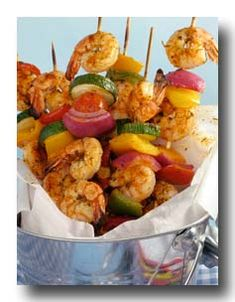 Lots of yummy shrimp kabob recipes on this site. Happy grilling, Everyone!