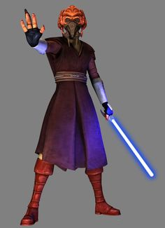 Plo Koon: Was a Kel Dor male from the planet Dorin who became a Jedi Master and a lifetime member of the Jedi High Council, holding the position from after the Stark Hyperspace War to the end of the Galactic Republic in 19 BBY. During the Clone Wars, Koon served as a Jedi General in the Grand Army of the Republic, leading soldiers in campaigns, fighting on Geonosis and at Kaliida Shoals amongst others. Koon was also an accomplished starfighter pilot.