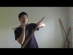 eskrima double stick figure 8 with arm weaving