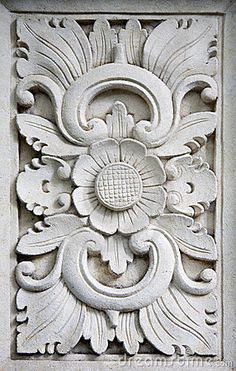 Photo about Traditional stone carving in sandstone, Bali, Indonesia. Image of detail, balinese, indonesia - 16120366 Wood Carving Designs, Wood Carving Patterns, Wood Carving Art, Stone Carving, Ornament Drawing, Cement Art, Plaster Art, Stone Statues, Sculptures