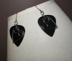 Guitar Pick and Metal Heart Punk Rock goth glam by emmadreamstar, $8.00