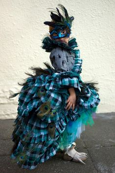 Amazing couture peacock costume via Mom Inc Daily