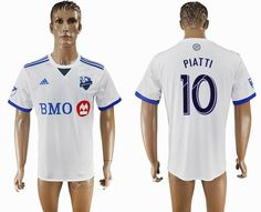 2017-2018 Montreal Impact Thailand version #10 PIATTI white soccer jersey away
