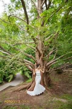"Genie, the lovely bride, allowed me to have a bit of ""artsy"" fun with this magnificent tree. And I love when I get some creative time each shoot. www.fotoreflection.com Wedding Photos, Artsy, Bride, Creative, Plants, Fun, Marriage Pictures, Wedding Bride, Bridal"