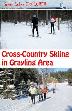 Grayling is a perfect base for the cross-country skier. With 105 in. of annual snowfall, the numerous local trails provide skiing opportunities for all. Winter Destinations, Vacation Destinations, Michigan Made Products, Cross Country Skiing, Tropical Paradise, Winter Travel, Youre Invited, Great Lakes, Geology