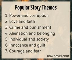 Read tips for choosing story themes.