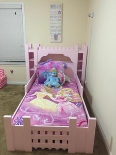 Castle bed princess castle bookshelf headboard for How to build a castle bed