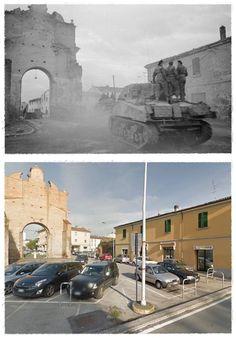 """La liberazione di Forlì: 9 Novembre 1944 """"avanguardie del Quinto corpo dell'Ottava armata britannica"""" Nei pressi di  Porta Schiavonia #NOVEMBRE1944 #FORLI"""