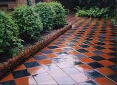 red and black victorian path tiles - Google Search