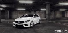 Misha Designs, famous for their high-quality Porsche and Mercedes body kits… Mercedes Benz Maybach, Mercedes Cls, Mercedes Benz Models, Cls 63 Amg, Up Auto, Shooting Brake, Dream Garage, Car Manufacturers, Car Detailing