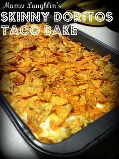 Skinny Doritos Taco Bake: This is AMAZING!! With 60 crushed Doritos on top it's worth 7 points. With the serving size being 1/8. That's a big piece!! :)