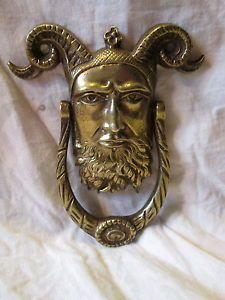 Charming Old Reclaimed Brass Scottish Knight Door Knocker With Royal Lion Shield  C1920 | Royals, Brass And Lion