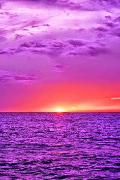 Nature landscape photos - Purple Ocean
