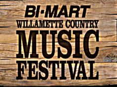 Willamette Country #Music #Festival | Aug. 16 - 18, 2013 | Brownsville, Oregon | #Lineup -Friday: American Young, Pam Tillis, Hunter Hayes, Carrie Underwood |   Saturday: Chris Young, Brad Paisley |   Sunday: Amy Clawson, Eli Young Band, Darius Rucker