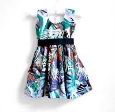 Baby Dress  Size 12  24 months  Tropical Print by PaisleyMagic, $29.99