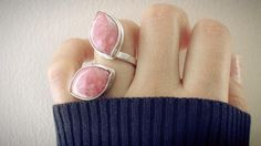 Silver ring Sterling Rhodochrosite ring Open by PaolaNaviaJewelry
