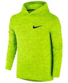 Nike Boys' Dri-fit Abstract Print Training Hoodie - Yellow S