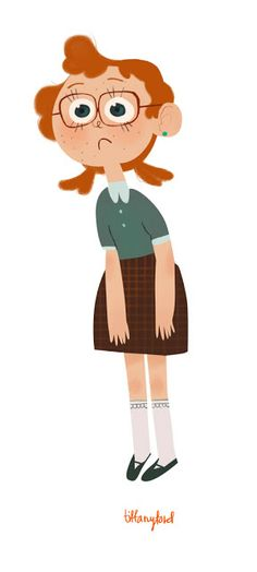 I knew a girl in school who looked exactly like this!