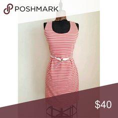 Beautiful Dress from Anthropologie Anthropolgie Sunday in Brooklyn size Medium. Orange and white stripe dress. True orange color. Does not include belt. Anthropologie Dresses