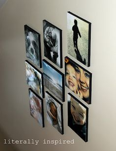 cheap way to make photo canvases...